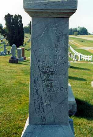 BASHORE, SARAH - Darke County, Ohio | SARAH BASHORE - Ohio Gravestone Photos