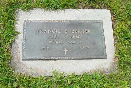 BERGER, FRANCIS E. - Darke County, Ohio | FRANCIS E. BERGER - Ohio Gravestone Photos
