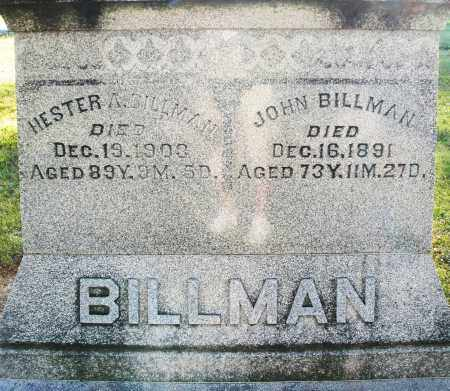 BILLMAN, HESTER A. - Darke County, Ohio | HESTER A. BILLMAN - Ohio Gravestone Photos