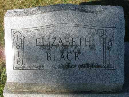 BLACK, ELIZABETH - Darke County, Ohio | ELIZABETH BLACK - Ohio Gravestone Photos