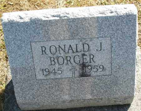 BORGER, RONALD J. - Darke County, Ohio | RONALD J. BORGER - Ohio Gravestone Photos