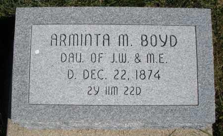 BOYD, ARMINTA M. - Darke County, Ohio | ARMINTA M. BOYD - Ohio Gravestone Photos