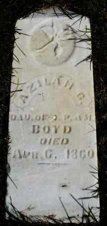 BOYD, AZILAH G. - Darke County, Ohio | AZILAH G. BOYD - Ohio Gravestone Photos