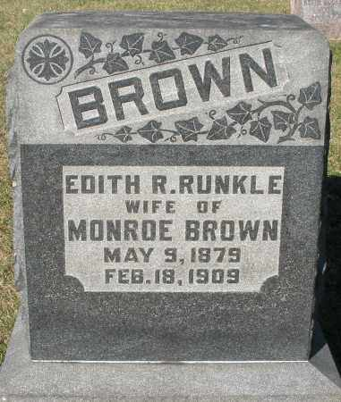 BROWN, EDITH R. - Darke County, Ohio | EDITH R. BROWN - Ohio Gravestone Photos