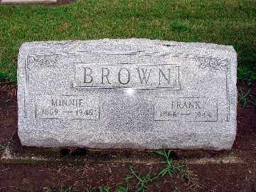 BROWN, MINNIE - Darke County, Ohio | MINNIE BROWN - Ohio Gravestone Photos
