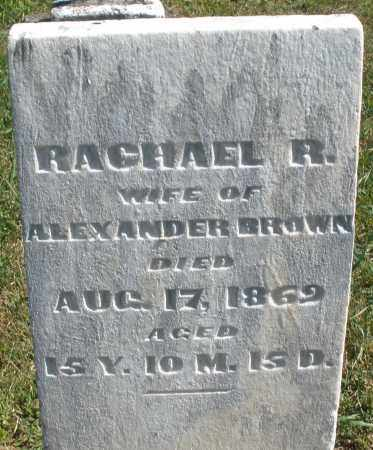 BROWN, RACHAEL R. - Darke County, Ohio | RACHAEL R. BROWN - Ohio Gravestone Photos