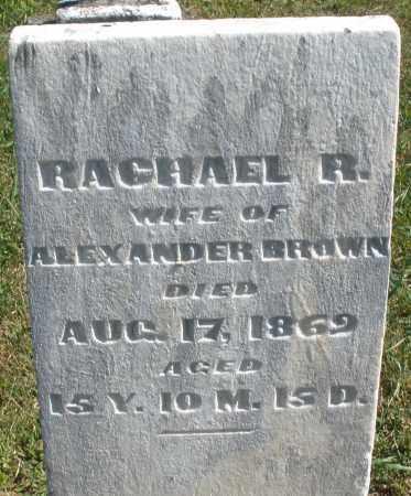 BROWN, RACHAEL R. - Darke County, Ohio | RACHAEL R. BROWN - Ohio Gravestone Photos