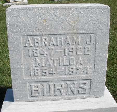 BURNS, ABRAHAM J. - Darke County, Ohio | ABRAHAM J. BURNS - Ohio Gravestone Photos