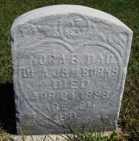 BURNS, NORA B. - Darke County, Ohio | NORA B. BURNS - Ohio Gravestone Photos