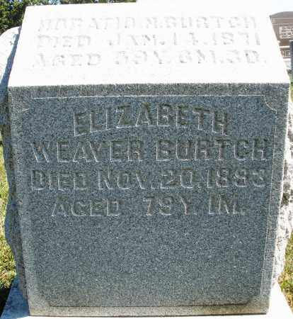 WEAVER BURTCH, ELIZABETH - Darke County, Ohio | ELIZABETH WEAVER BURTCH - Ohio Gravestone Photos