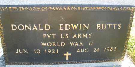 BUTTS, DONALD EDWIN - Darke County, Ohio   DONALD EDWIN BUTTS - Ohio Gravestone Photos