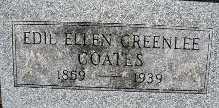 GREENLEE COATES, EDIE ELLEN - Darke County, Ohio | EDIE ELLEN GREENLEE COATES - Ohio Gravestone Photos