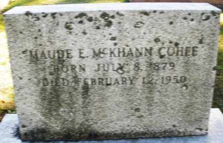 COHEE, MAUDE E. - Darke County, Ohio | MAUDE E. COHEE - Ohio Gravestone Photos