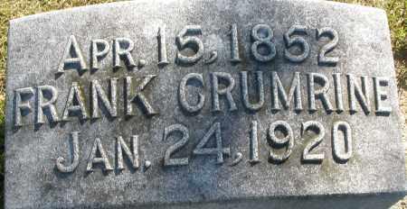 CRUMRINE, FRANK - Darke County, Ohio | FRANK CRUMRINE - Ohio Gravestone Photos