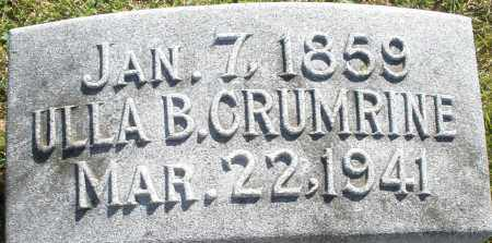 CRUMRINE, ULLA B. - Darke County, Ohio | ULLA B. CRUMRINE - Ohio Gravestone Photos