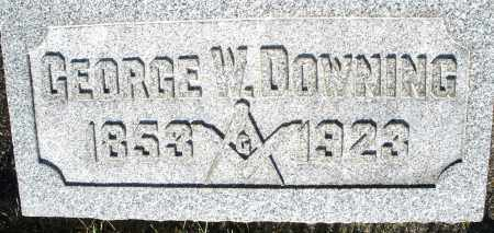 DOWNING, GEORGE W. - Darke County, Ohio | GEORGE W. DOWNING - Ohio Gravestone Photos