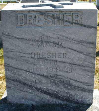 DRESHER, MARY - Darke County, Ohio | MARY DRESHER - Ohio Gravestone Photos