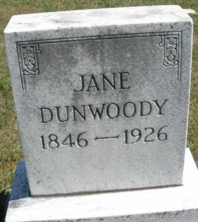 DUNWOODY, JANE - Darke County, Ohio | JANE DUNWOODY - Ohio Gravestone Photos