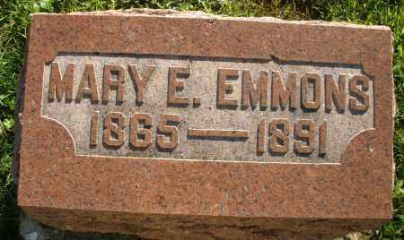 EMMONS, MARY E. - Darke County, Ohio | MARY E. EMMONS - Ohio Gravestone Photos