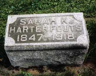 HARTER FOUTS, SARAH K. - Darke County, Ohio | SARAH K. HARTER FOUTS - Ohio Gravestone Photos