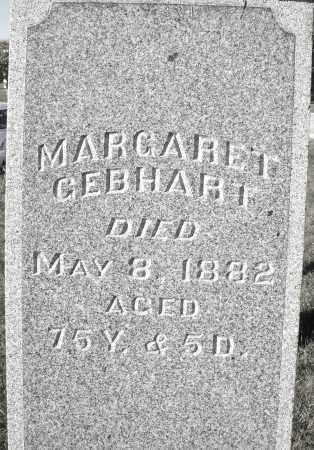 GEBHART, MARGARET - Darke County, Ohio | MARGARET GEBHART - Ohio Gravestone Photos