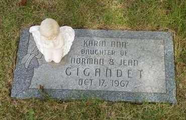 GIGANDET, KARIN ANN - Darke County, Ohio | KARIN ANN GIGANDET - Ohio Gravestone Photos