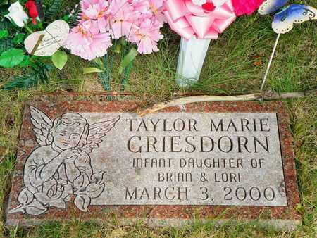 GRIESDORN, TAYLOR MARIE - Darke County, Ohio | TAYLOR MARIE GRIESDORN - Ohio Gravestone Photos