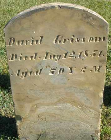 GRISSOM, DAVID - Darke County, Ohio | DAVID GRISSOM - Ohio Gravestone Photos