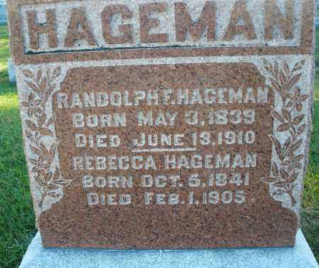 HAGEMAN, REBECCA - Darke County, Ohio | REBECCA HAGEMAN - Ohio Gravestone Photos