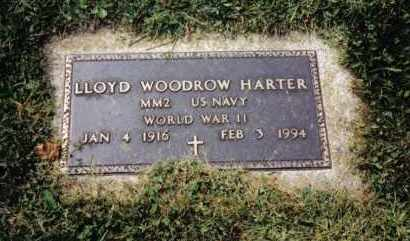 HARTER, LLOYD WOODROW - Darke County, Ohio | LLOYD WOODROW HARTER - Ohio Gravestone Photos