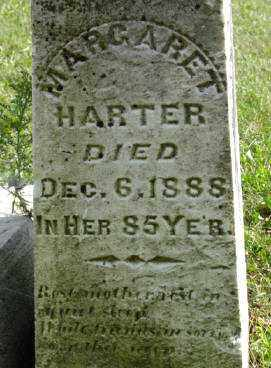 HARTER, MARGARET - Darke County, Ohio | MARGARET HARTER - Ohio Gravestone Photos