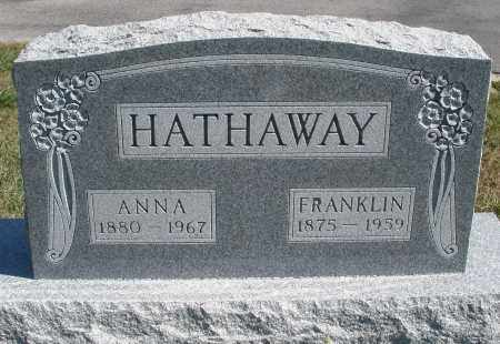 HATHAWAY, ANNA - Darke County, Ohio | ANNA HATHAWAY - Ohio Gravestone Photos