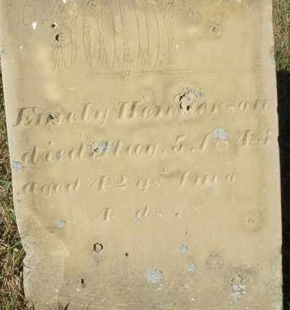 HENDERSON, EMELY - Darke County, Ohio | EMELY HENDERSON - Ohio Gravestone Photos