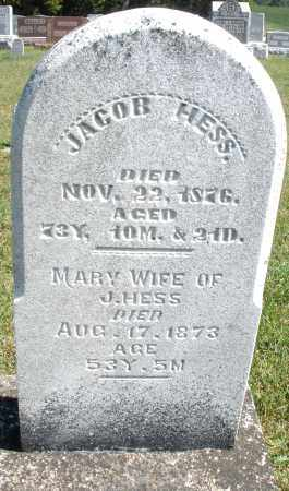 HESS, JACOB - Darke County, Ohio | JACOB HESS - Ohio Gravestone Photos