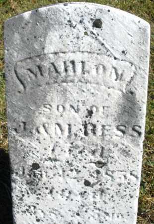 HESS, MAHLON - Darke County, Ohio | MAHLON HESS - Ohio Gravestone Photos