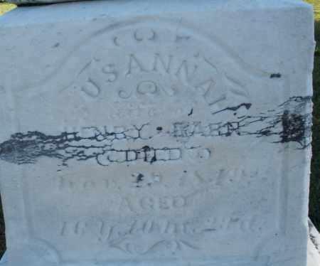 KARN, SUSANNAH - Darke County, Ohio | SUSANNAH KARN - Ohio Gravestone Photos
