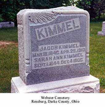 KIMMEL, SARAH ANN - Darke County, Ohio | SARAH ANN KIMMEL - Ohio Gravestone Photos