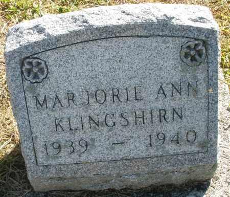 KLINGSHIRN, MARJORIE ANN - Darke County, Ohio | MARJORIE ANN KLINGSHIRN - Ohio Gravestone Photos