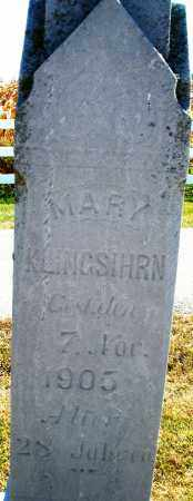 KLINGSIHRN, MARY - Darke County, Ohio | MARY KLINGSIHRN - Ohio Gravestone Photos