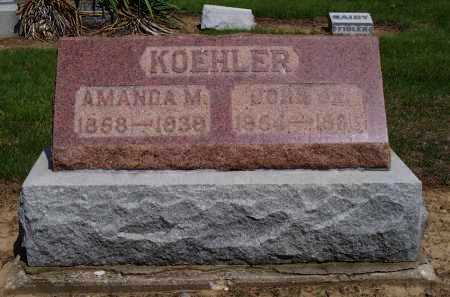 SHAFFER KOEHLER, AMANDA MATILDA - Darke County, Ohio | AMANDA MATILDA SHAFFER KOEHLER - Ohio Gravestone Photos