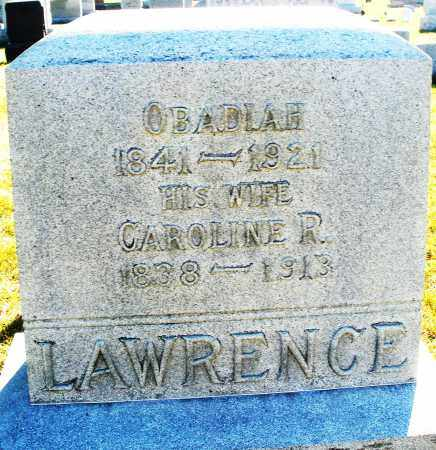 LAWRENCE, OBADIAH - Darke County, Ohio | OBADIAH LAWRENCE - Ohio Gravestone Photos