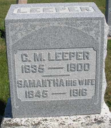 LEEPER, SAMANTHA - Darke County, Ohio | SAMANTHA LEEPER - Ohio Gravestone Photos