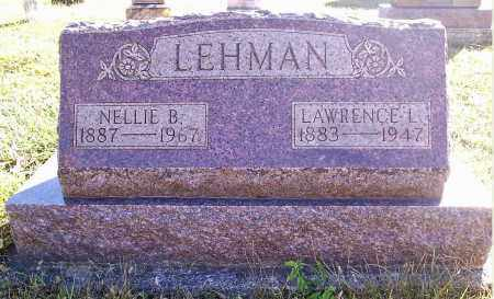 "LEHMAN, NANCY BELLE ""NELLIE"" - Darke County, Ohio 