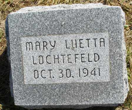 LOCHTEFELD, MARY LUETTA - Darke County, Ohio | MARY LUETTA LOCHTEFELD - Ohio Gravestone Photos