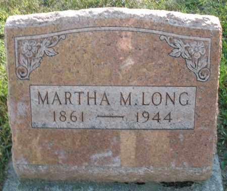 LONG, MARTHA M. - Darke County, Ohio | MARTHA M. LONG - Ohio Gravestone Photos