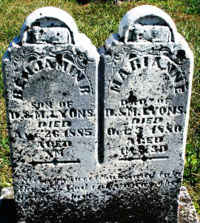 LYONS, BENJAMIN - Darke County, Ohio | BENJAMIN LYONS - Ohio Gravestone Photos