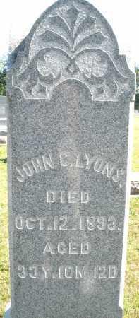LYONS, JOHN C. - Darke County, Ohio | JOHN C. LYONS - Ohio Gravestone Photos