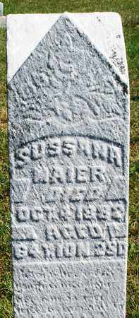 MAIER, SUSSANA - Darke County, Ohio | SUSSANA MAIER - Ohio Gravestone Photos