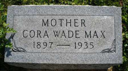 MAX, CORA - Darke County, Ohio | CORA MAX - Ohio Gravestone Photos