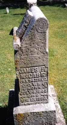 MCCABE, JAMES F. - Darke County, Ohio | JAMES F. MCCABE - Ohio Gravestone Photos